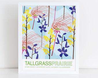 Tall Grass Prairie travel poster