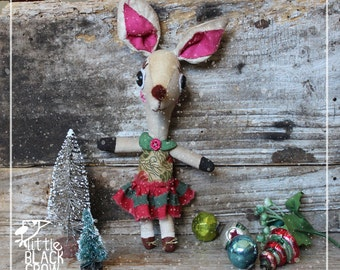 Christmas, cloth doll, reindeer, Dawn