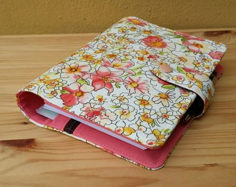 Floral   salmon  orange  Happy Planner Cover set includes mini Happy planner undated