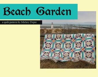 Beach Garden Quilt Pattern - Machine Piecing Instructions