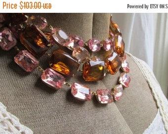 SALE Anna Wintour necklace, pink statement necklace, pastel pink statement necklace, collet necklace, pink, statement necklaces.