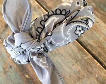 Bandana Knot Headband (GREY)