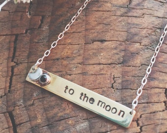 To the Moon Bar Necklace