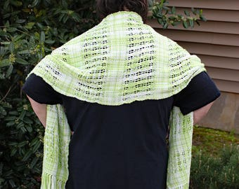 Odds and Even - Handwoven Lace Wrap/Shawl