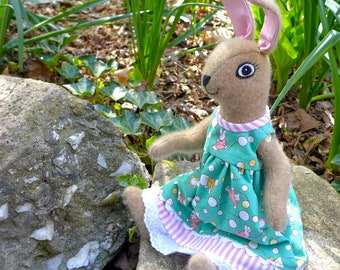 Bunny Doll -  A Sweet Wool Stuffed Animal