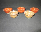 SALE  set of mini vessels, stoneware pottery, dishwasher and food safe