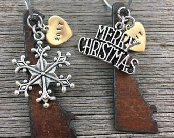 DELAWARE Christmas Ornament SMALL, Delaware Ornament, Christmas Gifts 2017 Christmas Ornaments, Personalized Gift, DELAWARE Ornaments