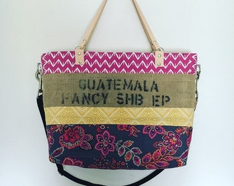 Quilted Burlap Tote