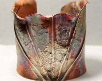 Rustic Fold-formed Copper Cuff