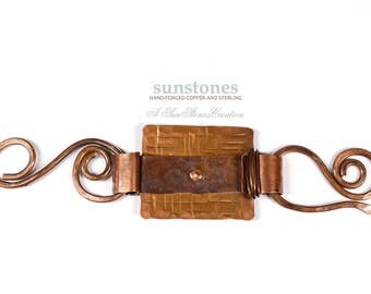 Handmade Rustic Copper Toggle Clasp TC612