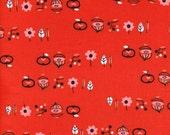 Cotton + Steel Rotary Club - onions n things - red - 50cm