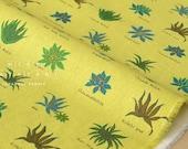 Japanese Fabric Aloe Vera Plants  - yellow green - fat quarter