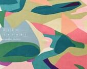 Japanese Fabric Kokka Koto Thouin - peach, green, pink, blue - 50cm