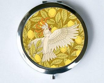 Art Nouveau Cockatoos Compact Mirror Pocket Mirror design Pattern