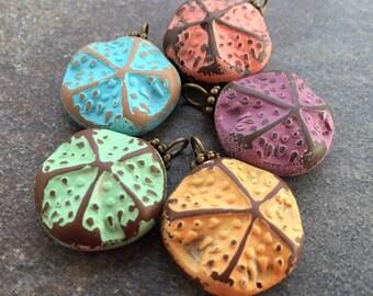 Handmade Starfish Charms Polymer Clay Starfish Pendant Necklace Charms Colorful Starfish Jewelry