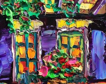 B. Sasik Original Oil Painting  New Orleans Painting