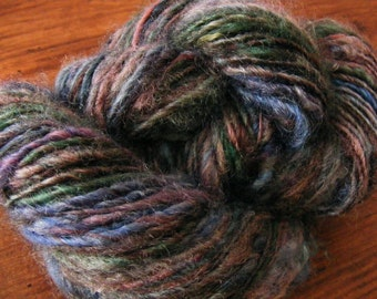 CRYSTAL EVE Handspun Wool Yarn Fleecespun Coopworth 174yds 5.4oz 8-9wpi aspenmoonarts knitting art yarn blue purple green