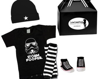 Rockstar Baby Kit Storm Pooper onesie star hat leg warmers and sneaker booties