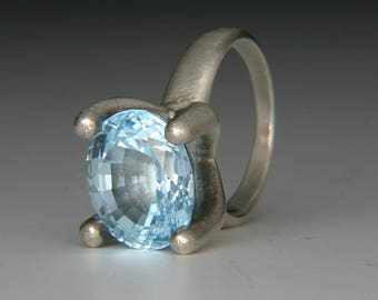 Annnie Ring with Blue Topaz
