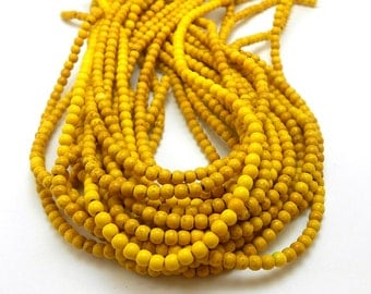 110 Yellow Howlite Beads 4MM howlite bead (H7067)