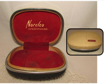 Vintage Norelco Speedshaver BOX ONLY, 50s, storage box container, carrying case, Shaver box only