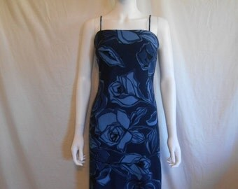 90s Floral Ribbed Dress