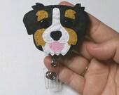 Bernese Mountain Dog,Bernese Mountain Dog Badge Reel,Berniedoodle, Badge Card Holder,Bernese,Dog, ID Holder,Nursing Badge Holder,Badge Reel