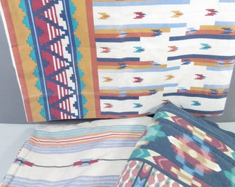 Vintage twin sheet set, twin bedding, southwest print, southwestern, aztec print, boho bedding, desert decor, Cannon sheets