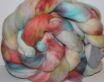 Kettle Dyed Falkland Wool Top.  Soft and easy to spin. 1lb. Braid. Spin. Felt. Roving. F35