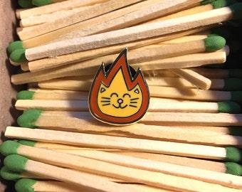 Lit Kitty - Hard Enamel Pin