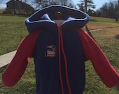 18 inch doll clothes fun NEW ENGLAND PATRIOTS Theme hooded fleece jacket