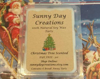 Christmas Tree Scented 100% Natural Soy Wax Break Away Tarts 3 oz