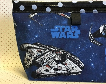 Star Wars Oilcloth Snappy Pouch - Large