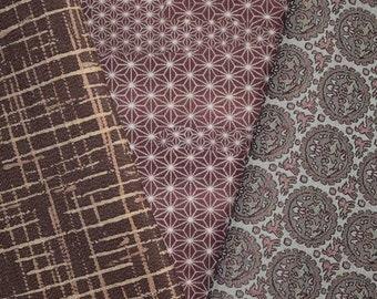 Vintage Japanese Kimono Fabric Bundle 3 Sleeve Mix Crafting - Geometry Class