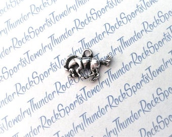 3 HORSE CHARMS, Antique Silver, Cowgirls, COWBOYS, wild west, Western, country, farm, animals, horses