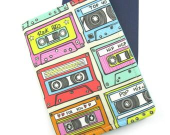 Retro Mix Tape Passport Cover, Passport Holder, Passport Wallet, Passport Case, Travel Gift