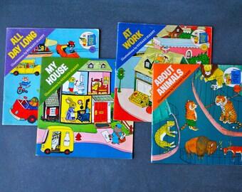 richard scarry, set of 4 books, 1976