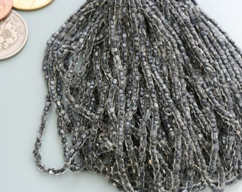Vintage, almost antique! seed bead master hank. Black-lined crystal. Made in Czecho-Slovakia. Imported by Natraco Quality.