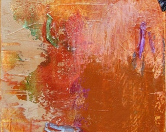 Echoes 13 - Original Signed Abstract Painting, Acrylics on Canvas, 12 x 12 inches by 1-1/2 inch deep