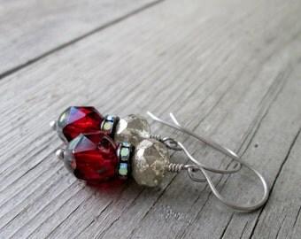 Red Earrings - Handmade Earrings - Drop Earrings - Bead Jewelry - Hypoallergenic - Boho Jewelry - Handmade Jewelry - Women's Jewelry