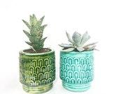 Textured small planter pot