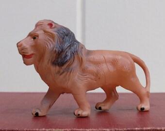 Antique Celluloid Lion Figure Creche Putz Nativity Toy