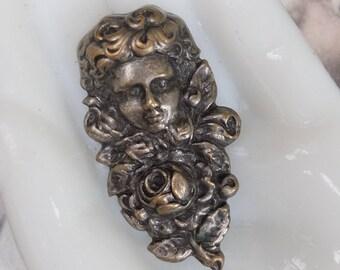 Vintage Art Nouveau Woman Stamping Pin