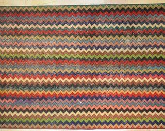 Rug Overdyed Vintage Geometric 6.5' x 9.5'