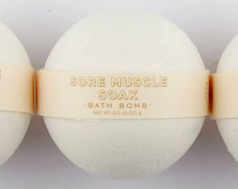 Spa Bath Bomb - Sore Muscle Soak Bath Bomb - One All Natural Bath Bomb Fizzie