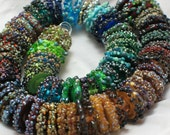 Reserved for Chris Glass Handmade Lampwork discs Beads filler focal glass art