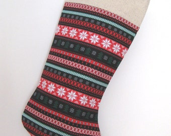 SALE! 20% - Christmas Stockings in coordinating fabrics
