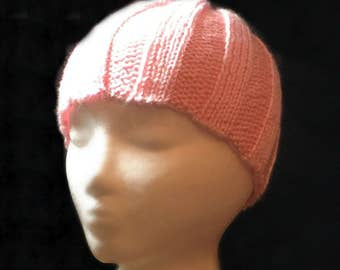 Knit cancer hat, chemo beanie, soft beanie, ladies cancer hat, cancer patient cap, chemo hat, teen cancer cap, chemotherapy hat, acrylic hat