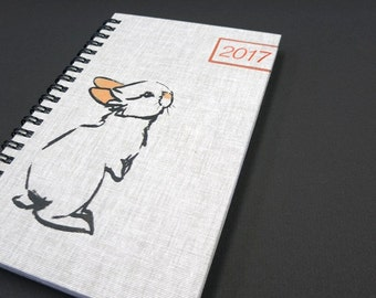 2017 Weekly Planner, Agenda, Day Planner, Calendar, Pocket Size, papergoods, handmade