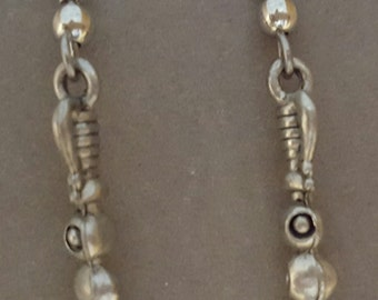Olive Skewer Earrings Pewter